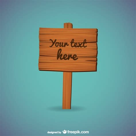 wooden sign template vector free