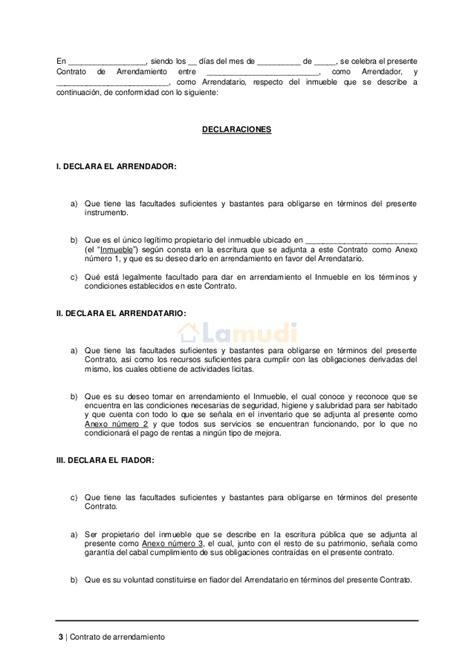 Contrato De Alquiler Simple | contrato de arrendamiento simple contrato de