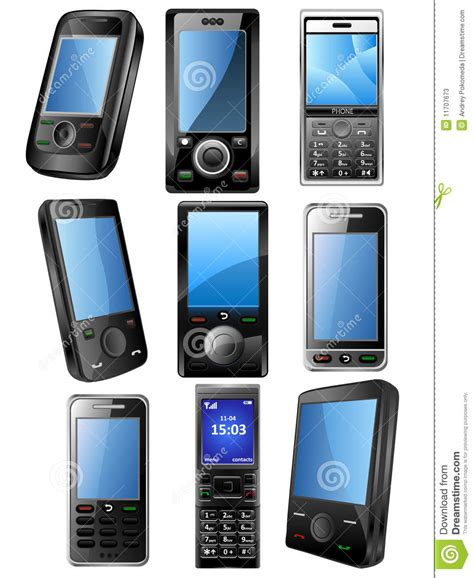 mobile phone set mobile phone icone set stock photos image 11707673