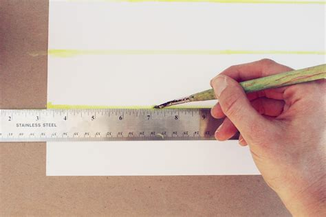 How To Make A Ruler Out Of Paper - diy watercolor calendar