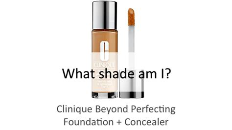 Clinique Beyond Perfecting find your shade clinique beyond perfecting foundation