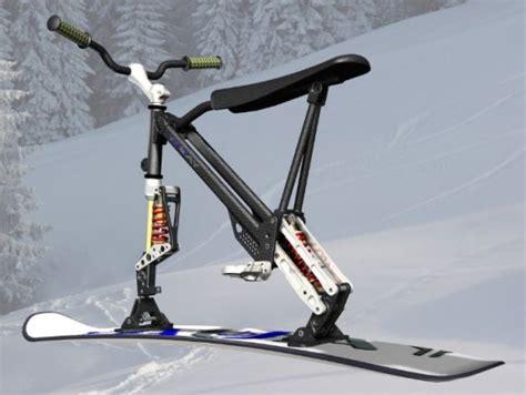 omo ski bike combines  features   snowboard