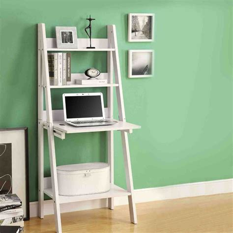 White Ladder Bookcases White Ladder Bookcase With Drop Desk For The Home