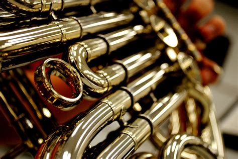 french horn section four horns front and center arts and music indiana