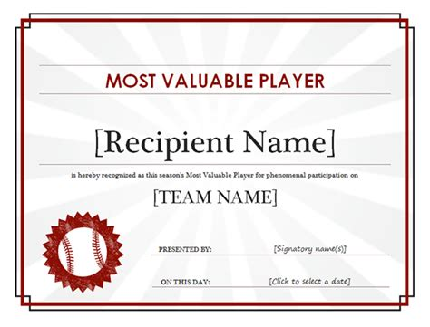 basketball mvp certificate template most valuable player award certificate car interior design