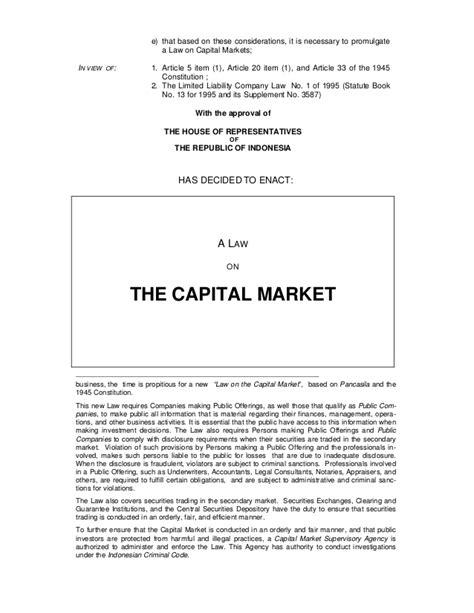 Farmakope Indonesia Edisi 4 Tahun 1995 capital market act uu no 8 tahun 1995 tentang pasar modal