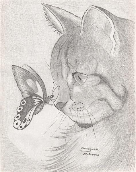 dibujos realistas y fantasticos gatos tiernos para dibujar a lapiz imagui