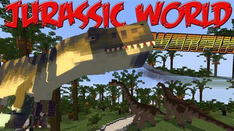 mod game jurassic world jurassic world minecraft mod 1 7 10 youtube