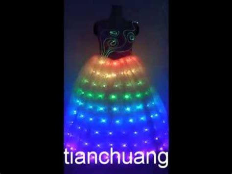 Hq 12990 Cherry Tutu Dress led wedding dress led luminous dress luminous stage