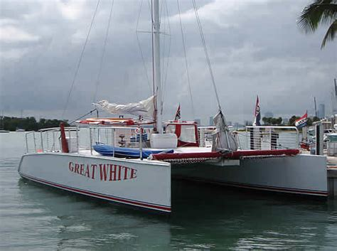 catamaran boat miami 48ft great white party catamaran yacht for charter in