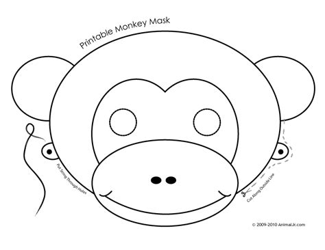 free printable monkey template monkey mask template