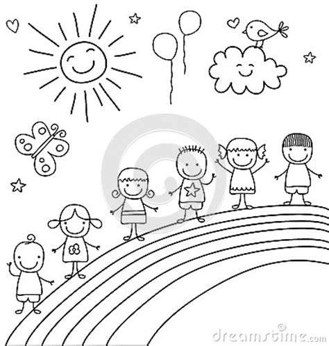 coloring book paper stock on rainbow stock vector image 53459993