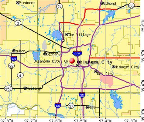 oklahoma city map map of oklahoma city wisconsin map