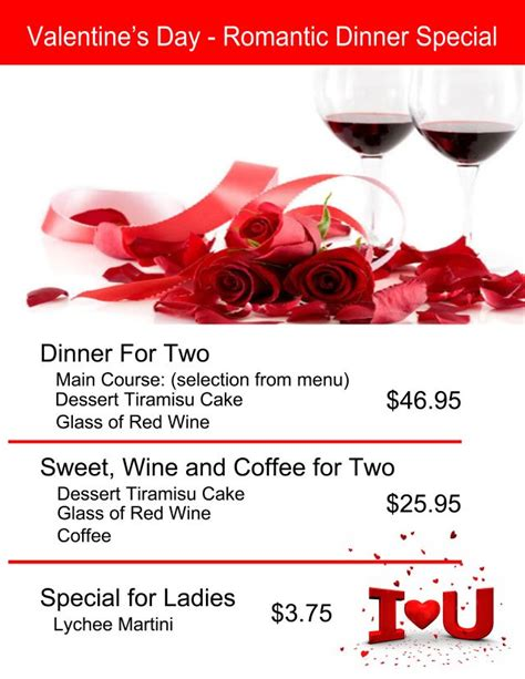 valentines dinner specials fregata past events