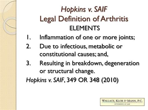 arthritis definition of arthritis by medical dictionary ppt the oregon legal definition of arthritis and pre
