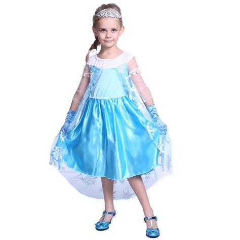 Princess Kostum Elsa Frozen frozen princess elsa costume fancy dress ebay