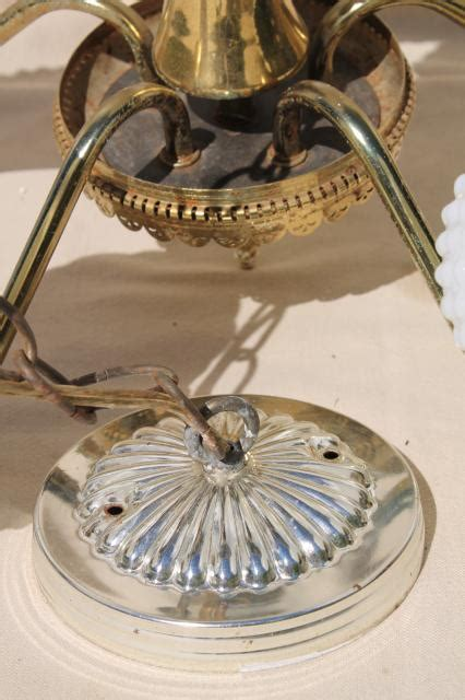vintage white hobnail glass l hobnail glass chandelier vintage hobnail glass