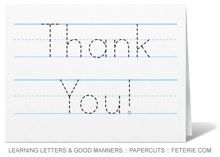 beginning card template trace able thank you card template for beginning writers