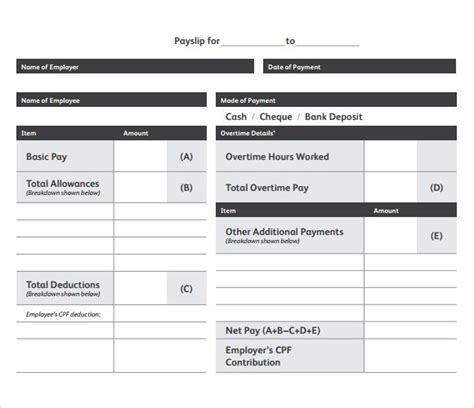 Pay Slip Templates 10 payslip templates word excel pdf formats