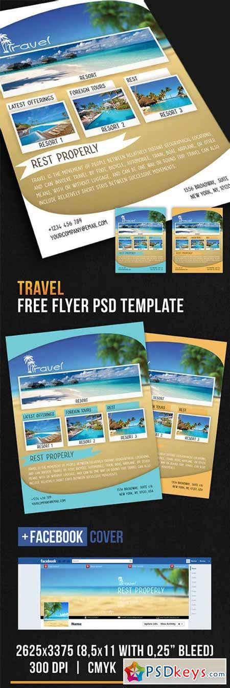 travel flyer psd template 187 free download photoshop