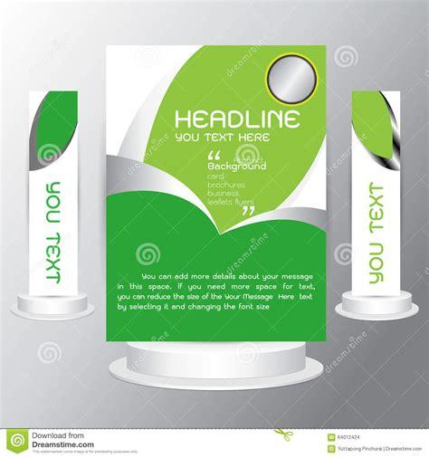 background tri fold business set brochure cards flyers