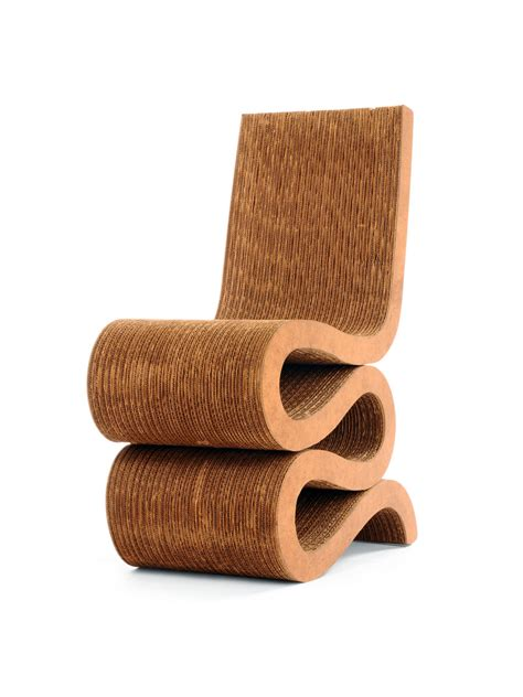 famous chair designs wiggle side chair with hard fiber board from frank gehry