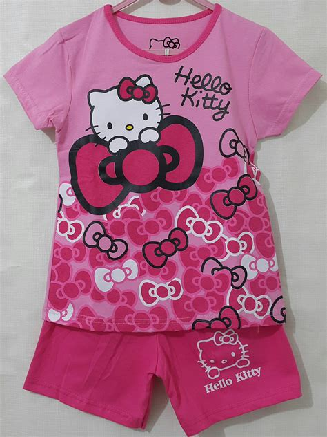 Dress Hellokitty Pita Dress Anak Baju Anak Kaos Anak setelan anak hello pita pita pink 1 6 grosir