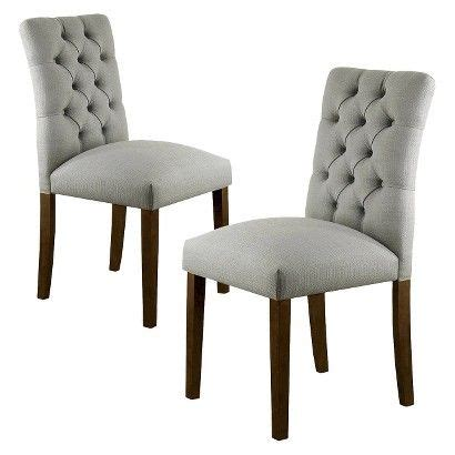 threshold brookline tufted dining chair glacier 14 best office images on dining room dining