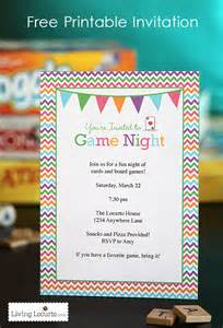 game night party ideas with free printables