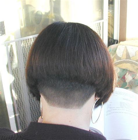 bob haircuts nape dark bob clippered nape bobs bowls pinterest bobs
