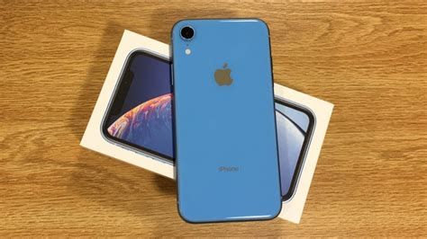 iphone xr blue unboxing  impressions youtube