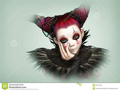 sad clown 3d cg stock illustration image 46112796