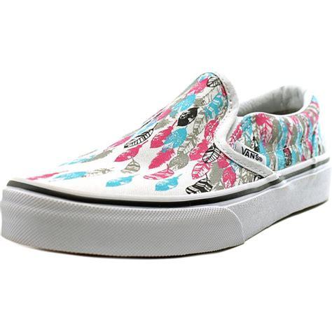 multi colored vans vans classic slip on youth canvas multi color skate shoe
