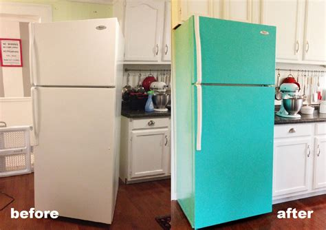 diy chalk paint fridge diy painted refrigerator cozy crooked cottage