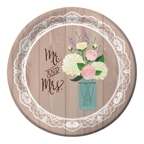 theme bridal shower plates and napkins rustic wedding banquet paper plates 8