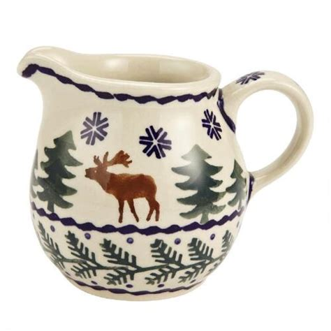 polish pottery creamer christmas tree shops andthat