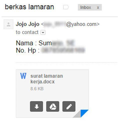 email ke hrd 5 tips singkat mengirim lamaran kerja melalui email