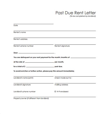 past due letter 8 documents in pdf
