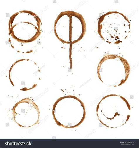 Coffee Print coffee cup prints rings stock illustration 107416700