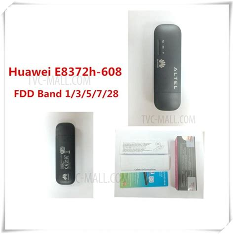 Modem Flash 4g Lte huawei e8372h 608 unlocked 150mbps 4g lte modem usb stick wifi router tvc mall