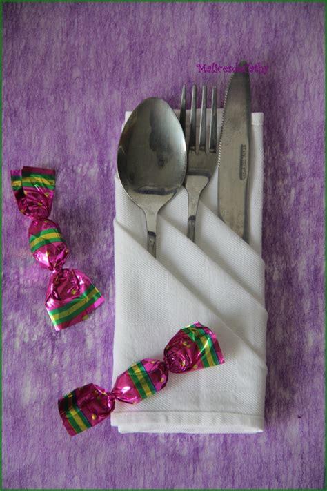 Pliage Serviette Pour Couvert by Pliage De Serviette Pour Couverts De Table ღ Les Malices