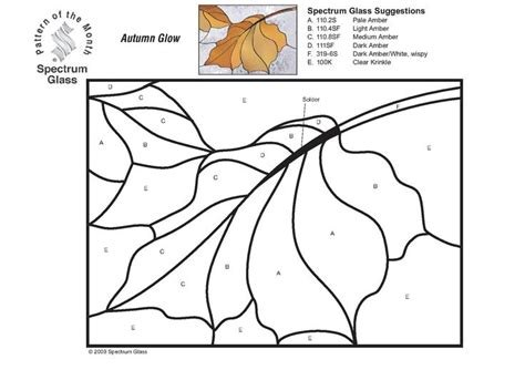 leaf pattern for stained glass stained glass spectrum pattern leaf coloring stained