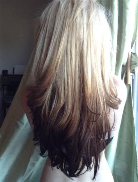 ombre hair color on black