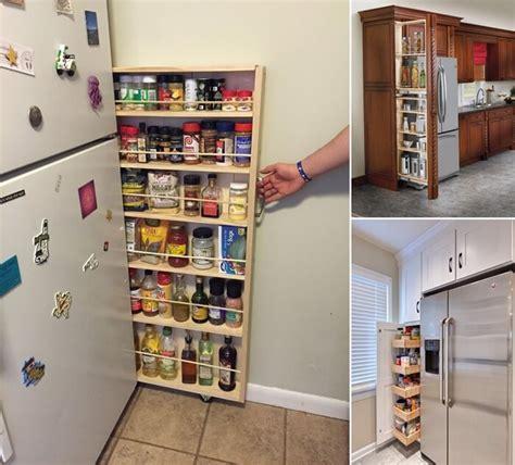 19 clever refrigerator side shelf designs for your kitchen
