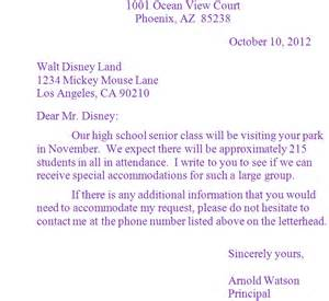 business letter sle grade 8 sle business letter