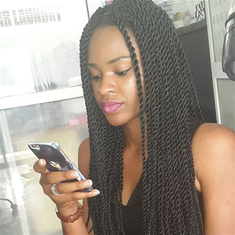 new style twist marley 1b braided synthetic lace front heat resistant micro braided synthetic lace front wig