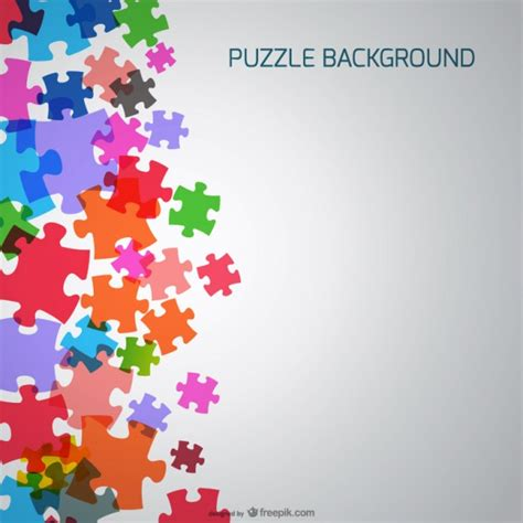 layout puzzle vector puzzle pieces background vector free download