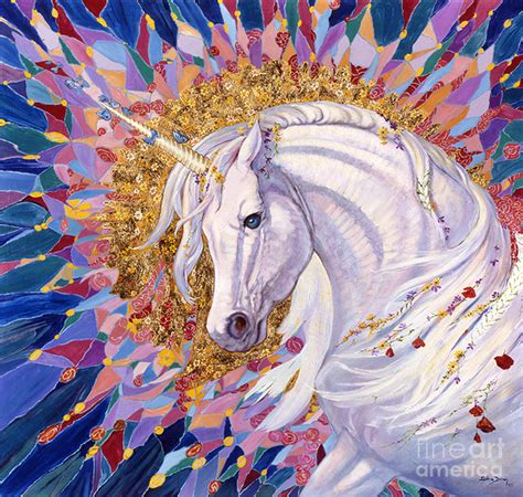 unicorn ii painting by duran