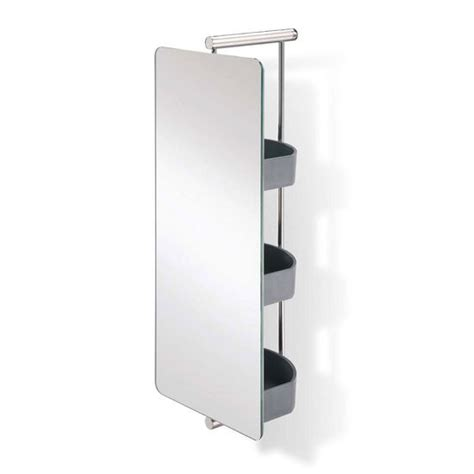 Swivel Bathroom Mirrors | bathroom mirror waldorf polished s s swivel mirror with shelves by empire kitchensource com