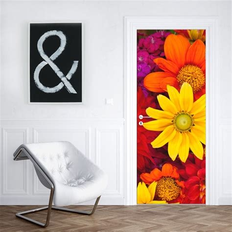 vinilos flores  decorar puertas  armarios